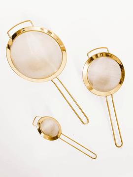 Set coladores dorados