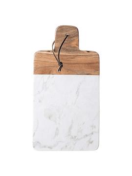 Tabla rectangular mármol madera