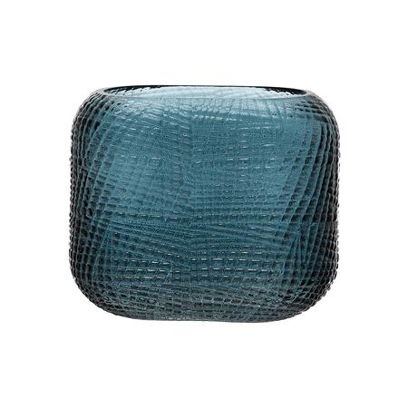 Jarrón azul vidrio
