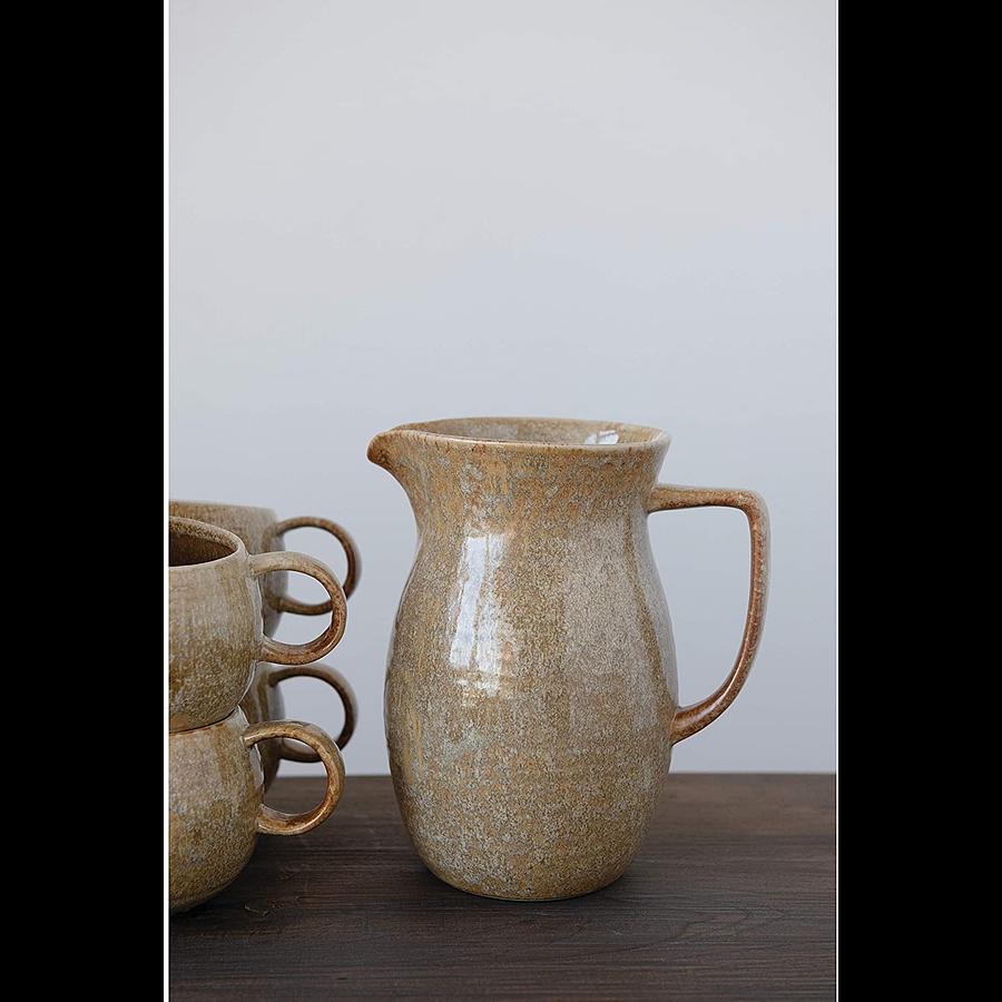 Jarra cerámica mostaza