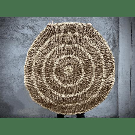 Alfombra redonda fibra círculos