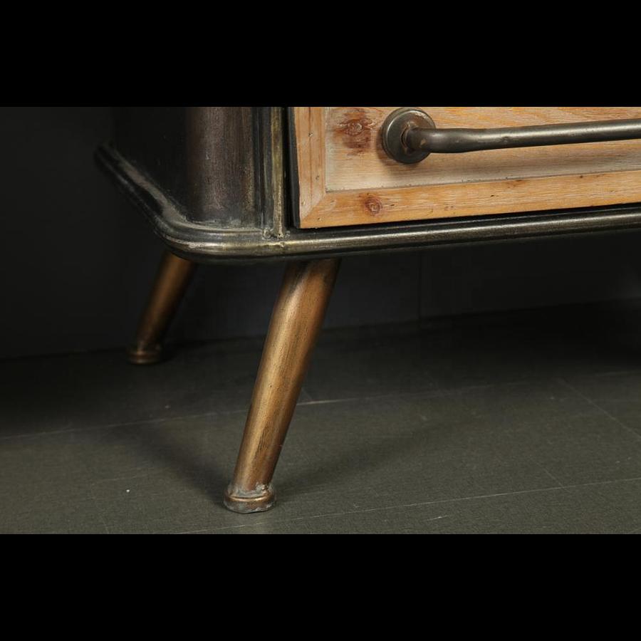Vitrina madera y metal