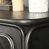 Buffet vitrina madera negra