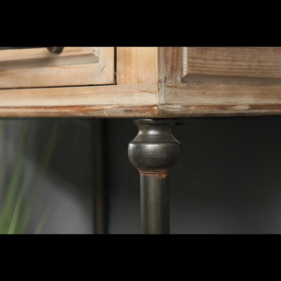 Velador metal y madera