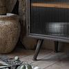 Buffet vitrina metal madera