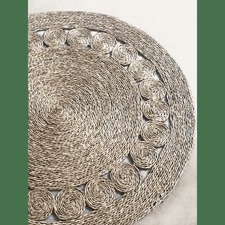 Alfombra decorativa yute redonda