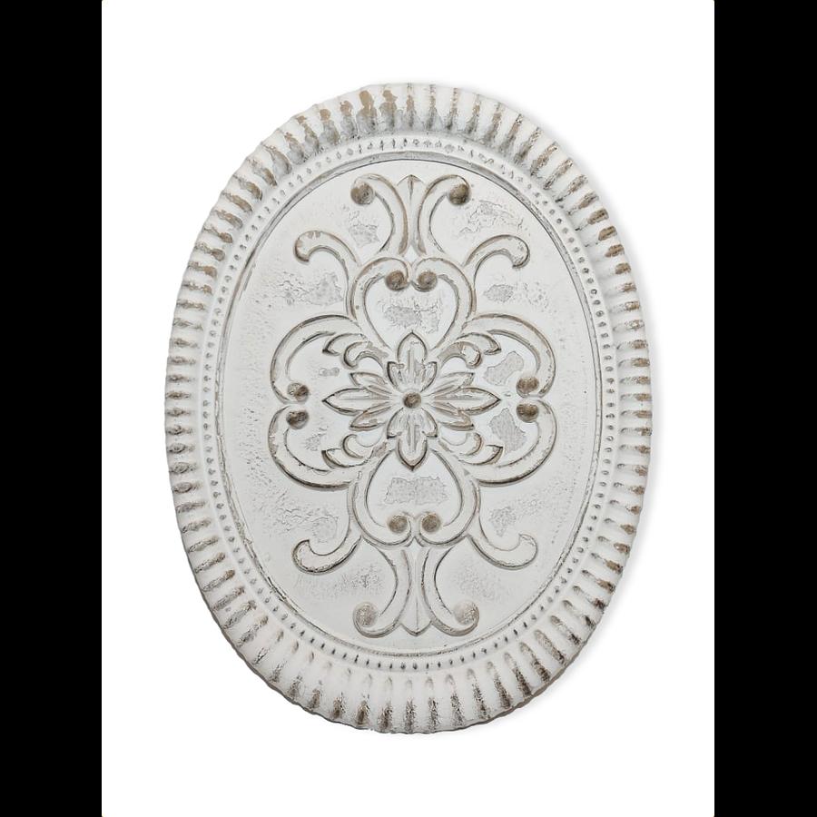Medallón pared ovalado