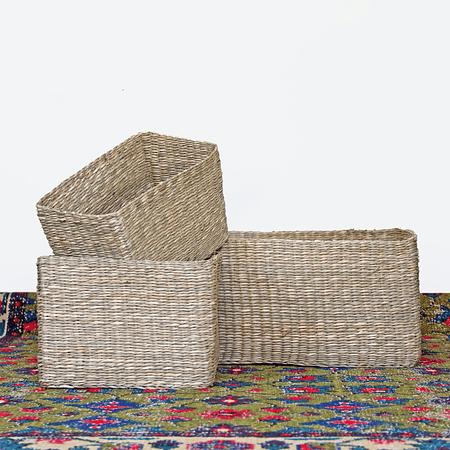Cajas canasto fibra rectangular