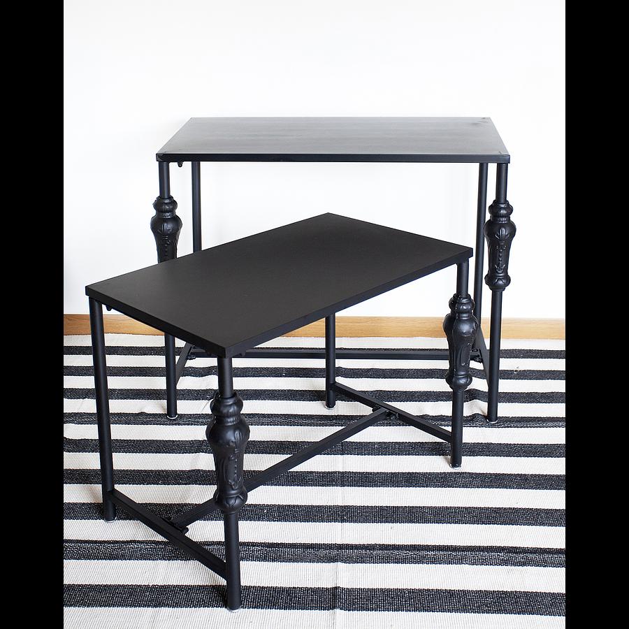 Mesas fierro negras