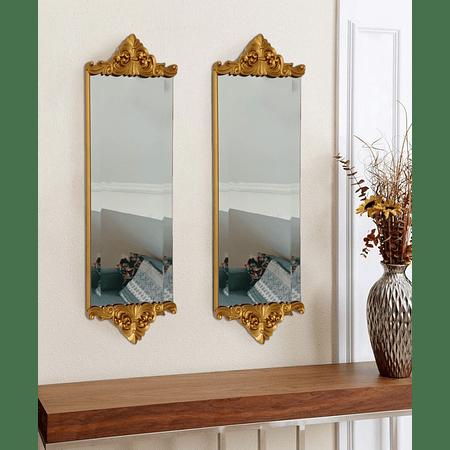 Espejo dorado resina