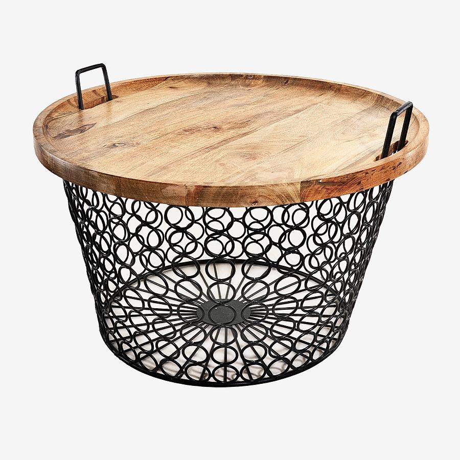 Mesa canasto círculos