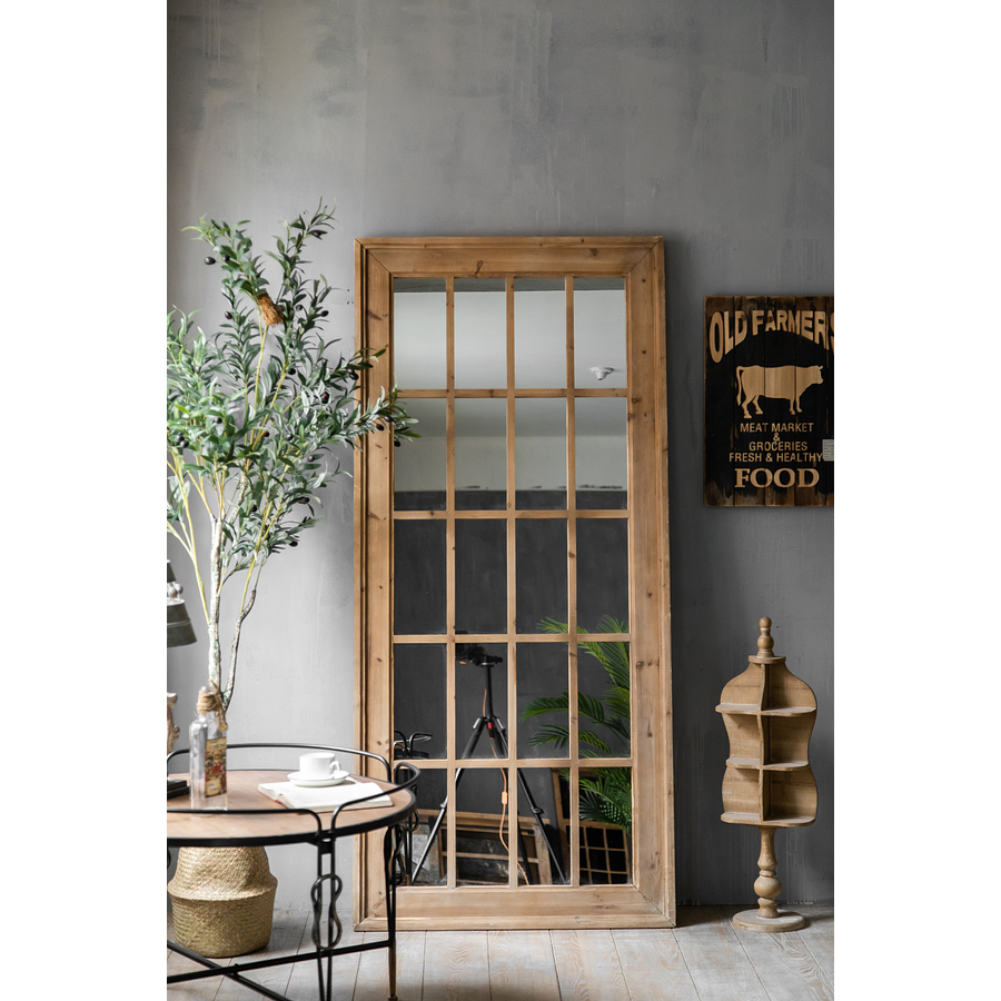 Espejo madera rectangular XL