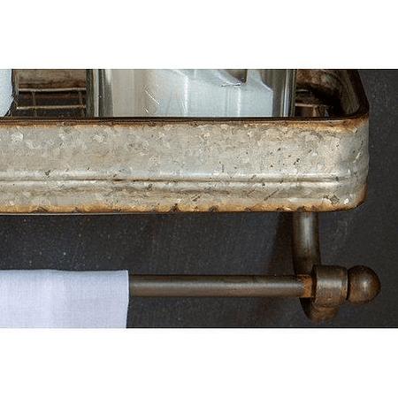 Repisa toallero galvanizada