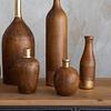 Botellas madera decorativas