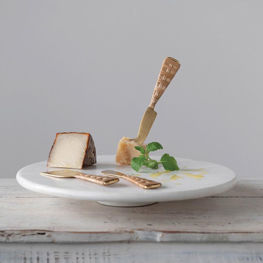 Set cuchillos queso dorados