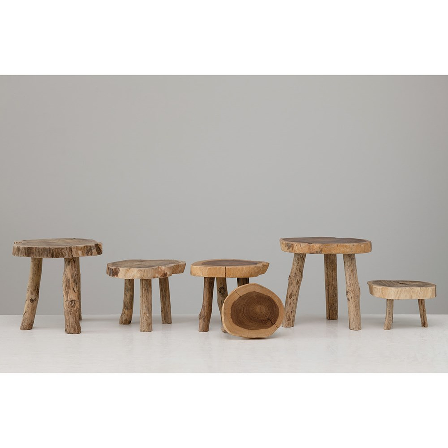 Pedestales madera rústicos irregulares