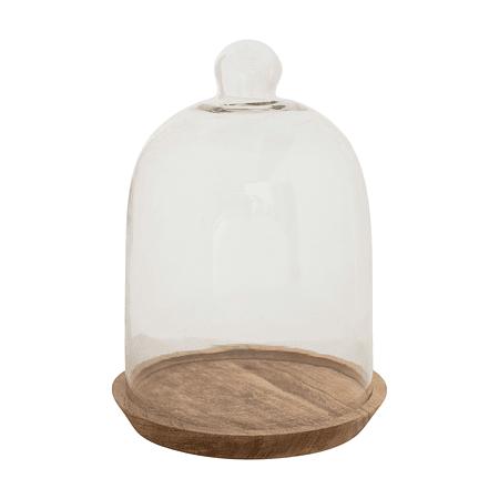 Cúpula vidrio base madera