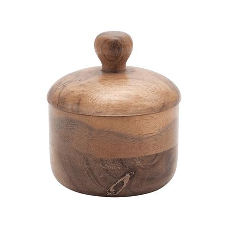 Salero madera acacia