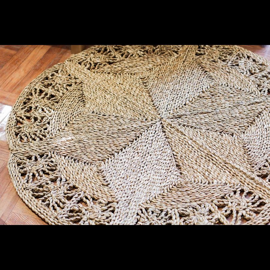Alfombra decorativa yute mandala