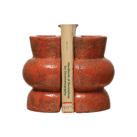 Sujetalibros cerámica coral