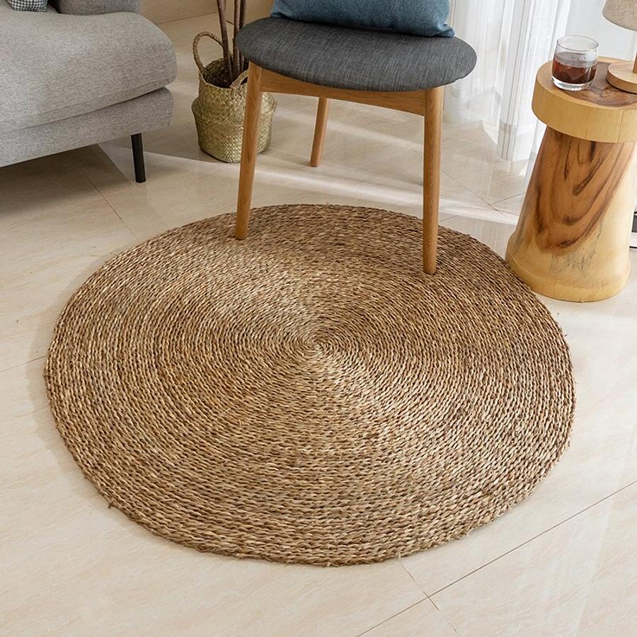 Alfombra decorative yute circular
