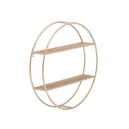 Repisa circular dorada
