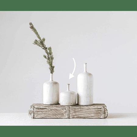 Jarrón blanco cerámica