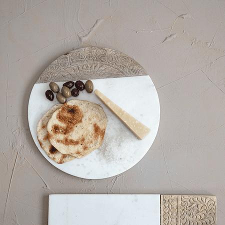 Tabla mármol madera mandala