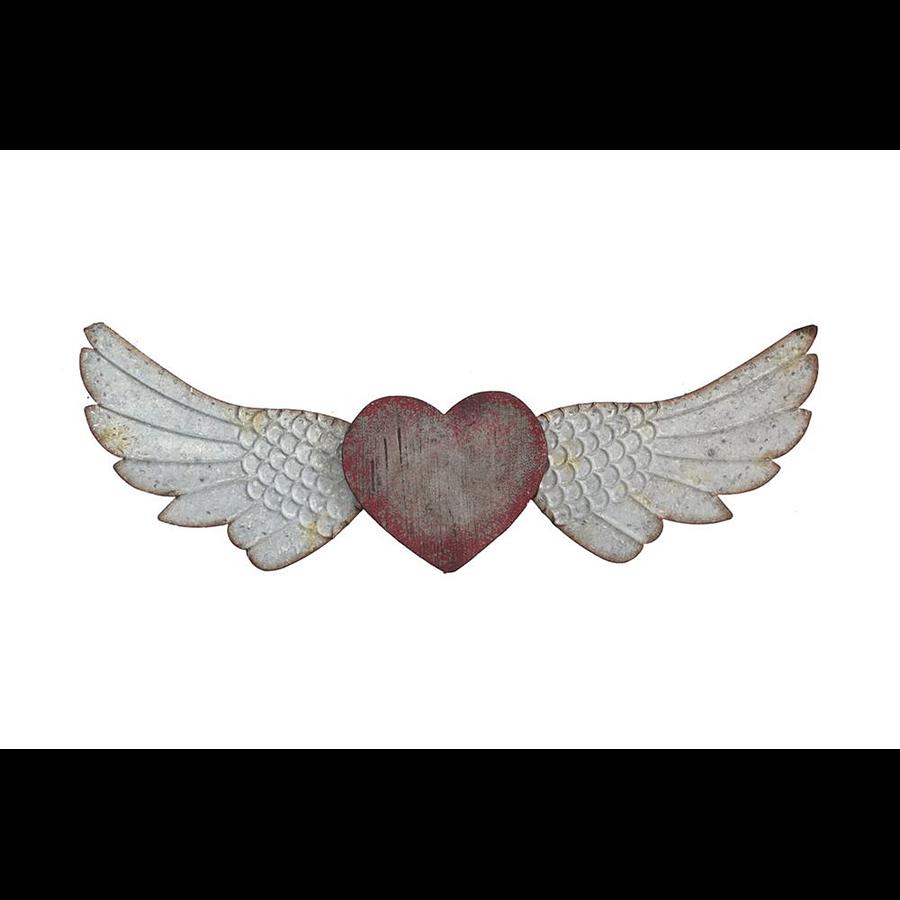 Corazón alado mural