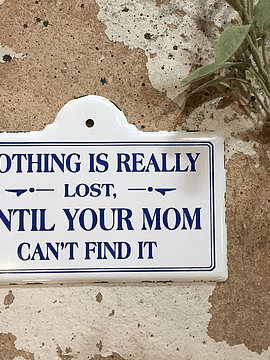 Letrero esmaltado mamá