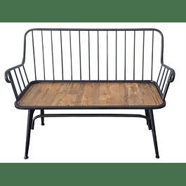 Sofá metal madera