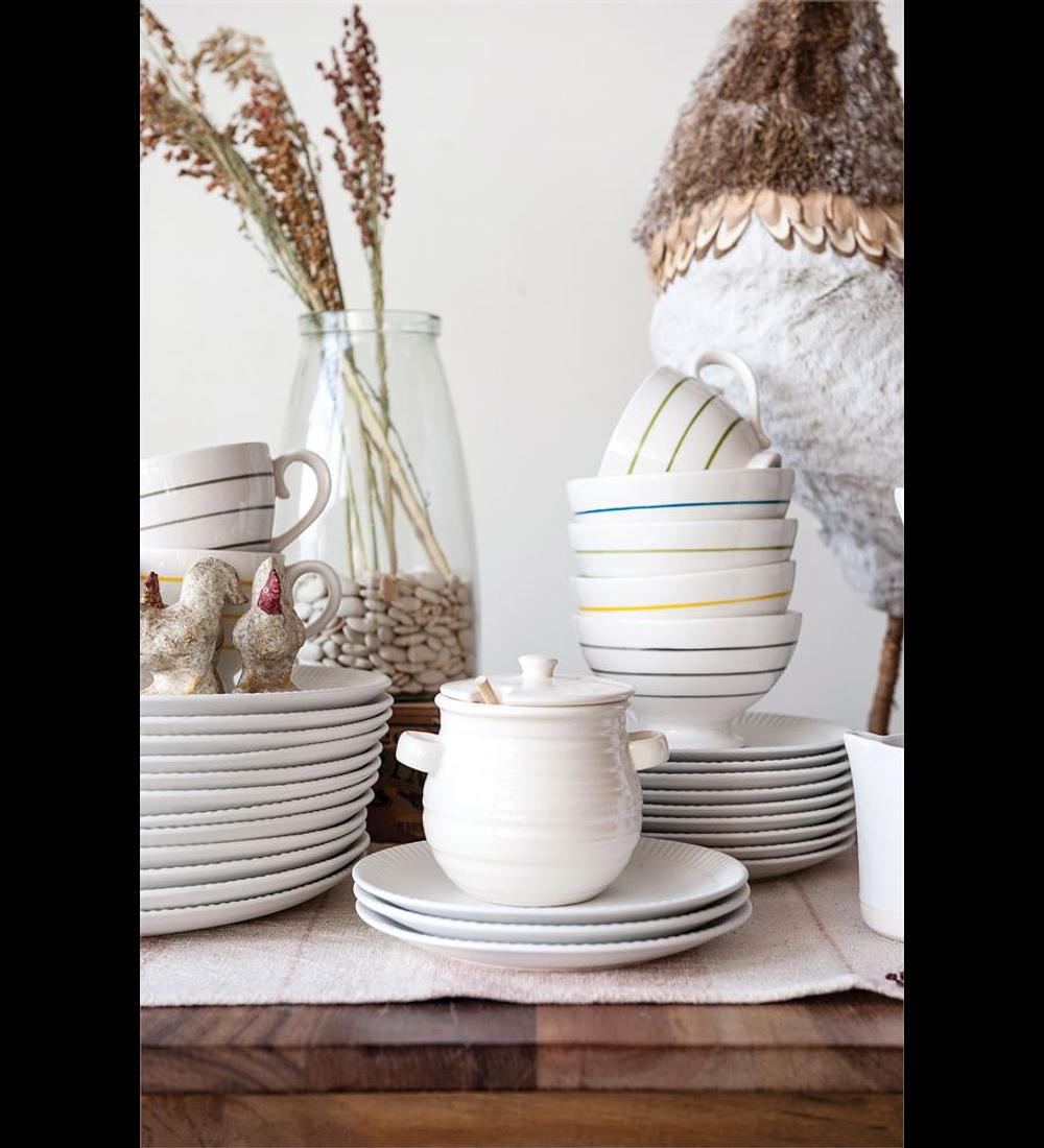 Mielero cerámica blanco