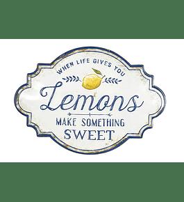 Letrero metálico limones
