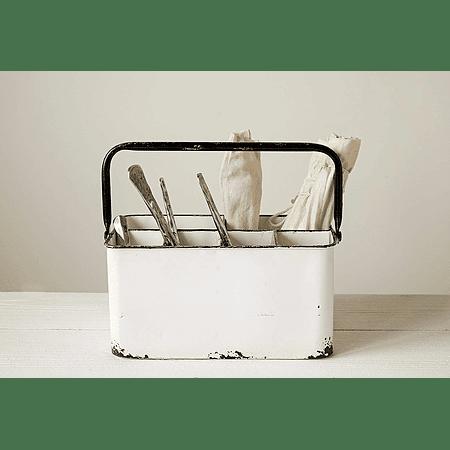 Porta utensilios esmaltado