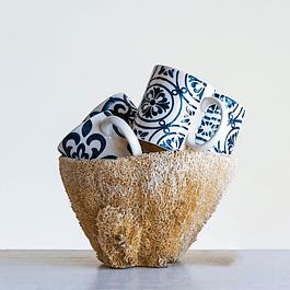 Tazas cerámica azules