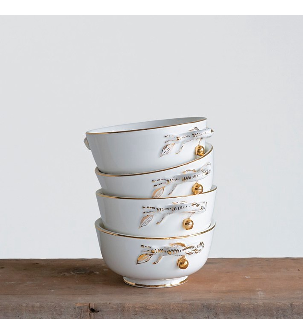 Bowl cerámica dorado