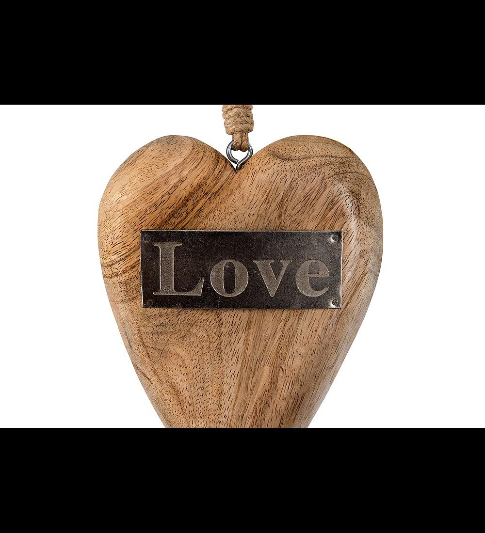 Corazón madera colgante