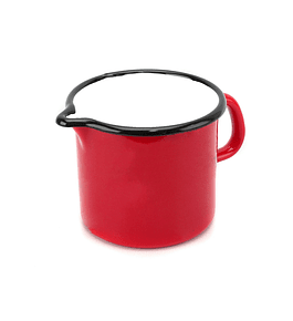 Lechero esmaltado rojo