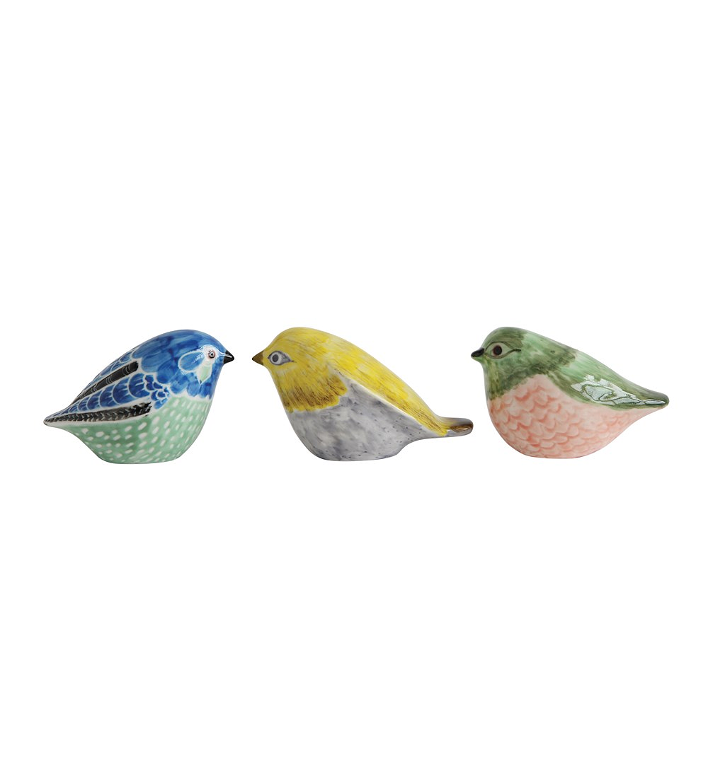 Set pájaros cerámica