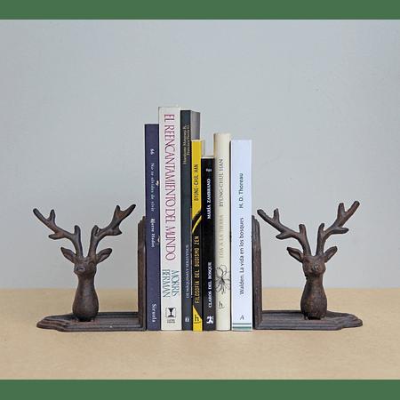 Sujeta libros ciervos