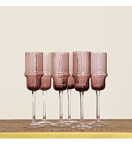 Set de copas malva