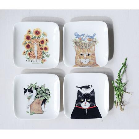 Set platos gato