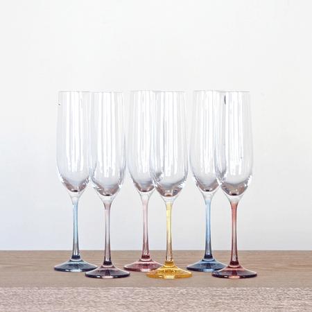 Set de 6 copas champaña