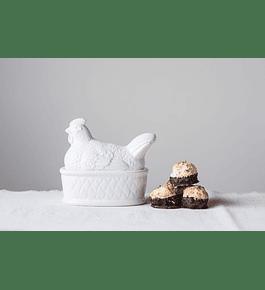 Frasco gallina blanco