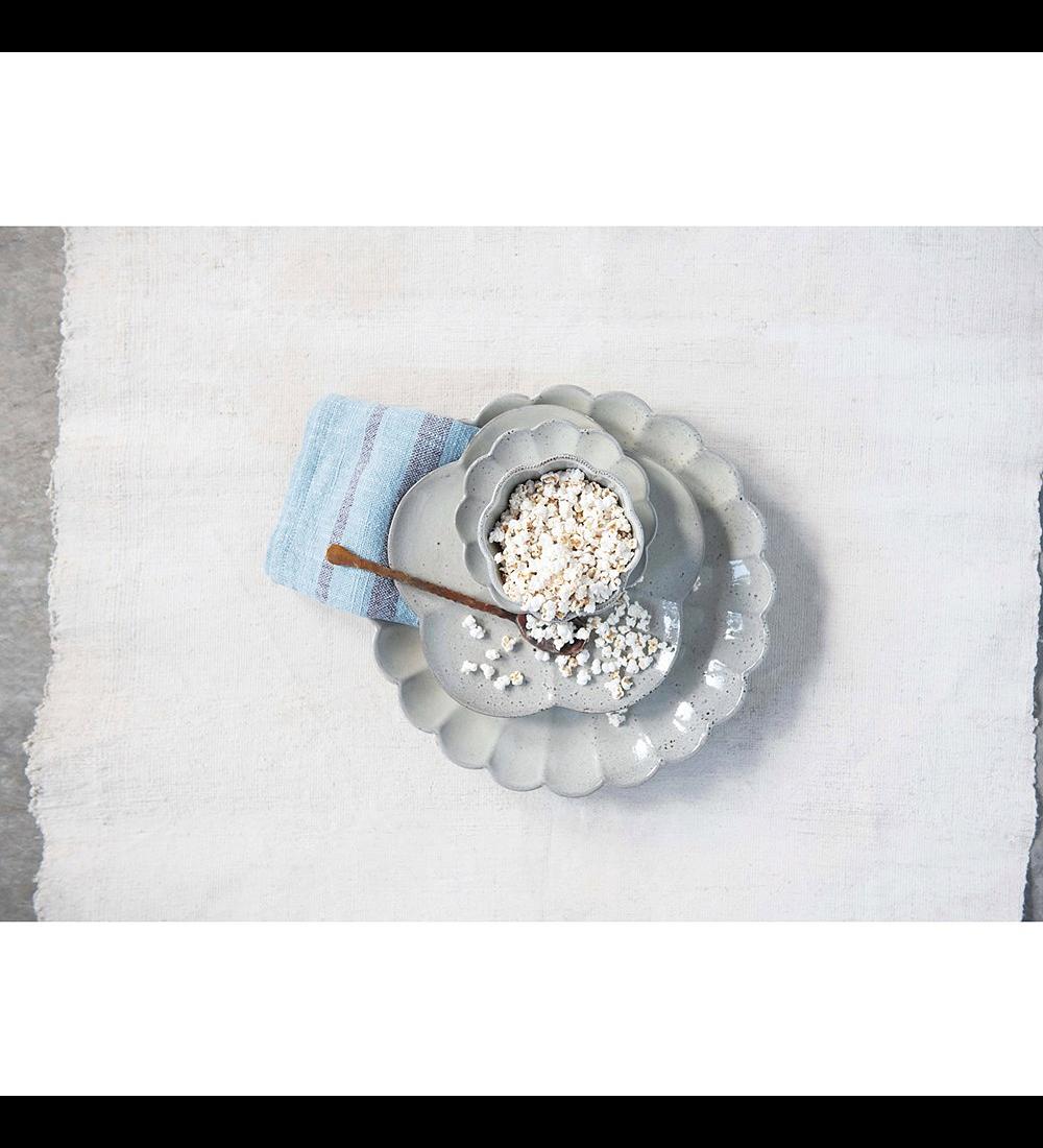 Plato cerámica festoneado
