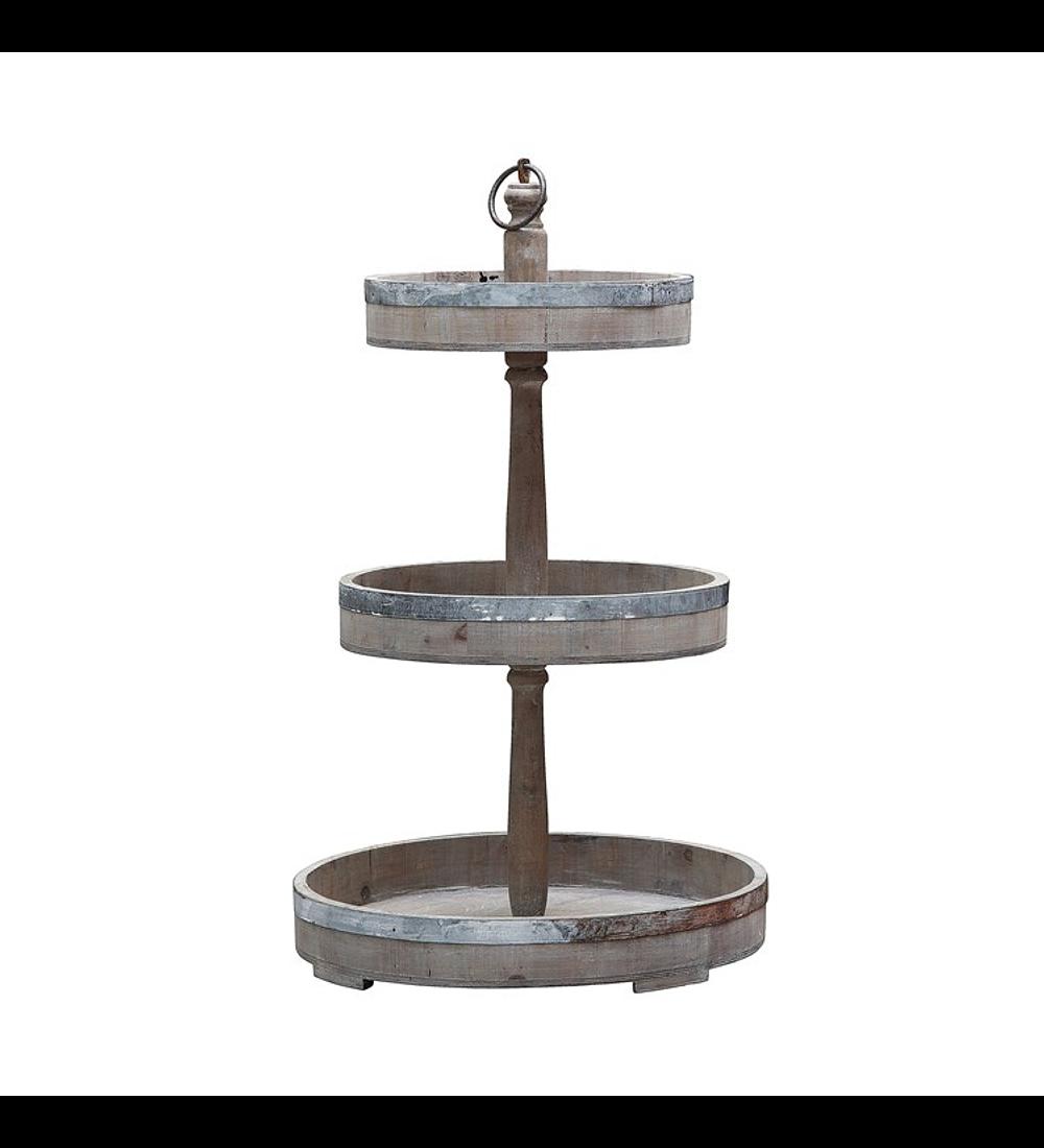 Pedestal metal madera