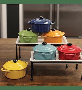 Mini ollas horno cerámica