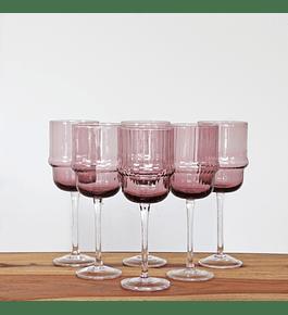 Set copas malva vino