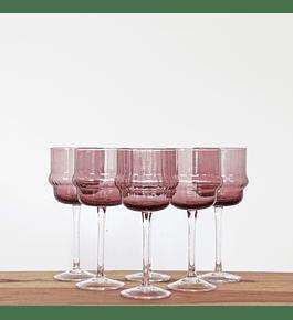 Set copas malva vino blanco