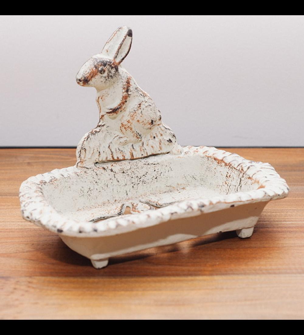 Jabonera conejo beige